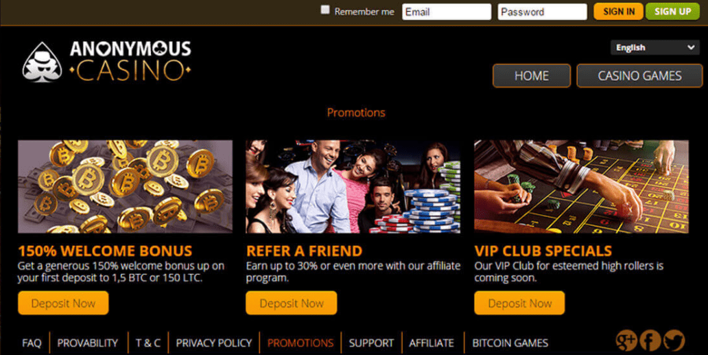 anonymous casino promotions