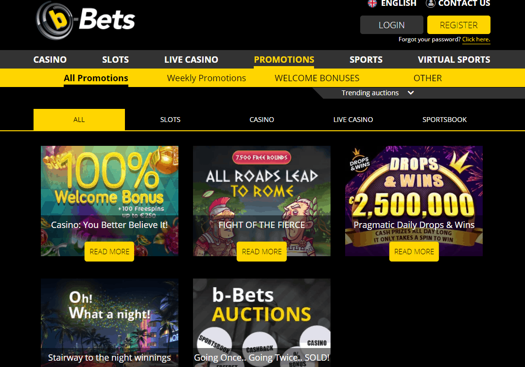 b bets promotions