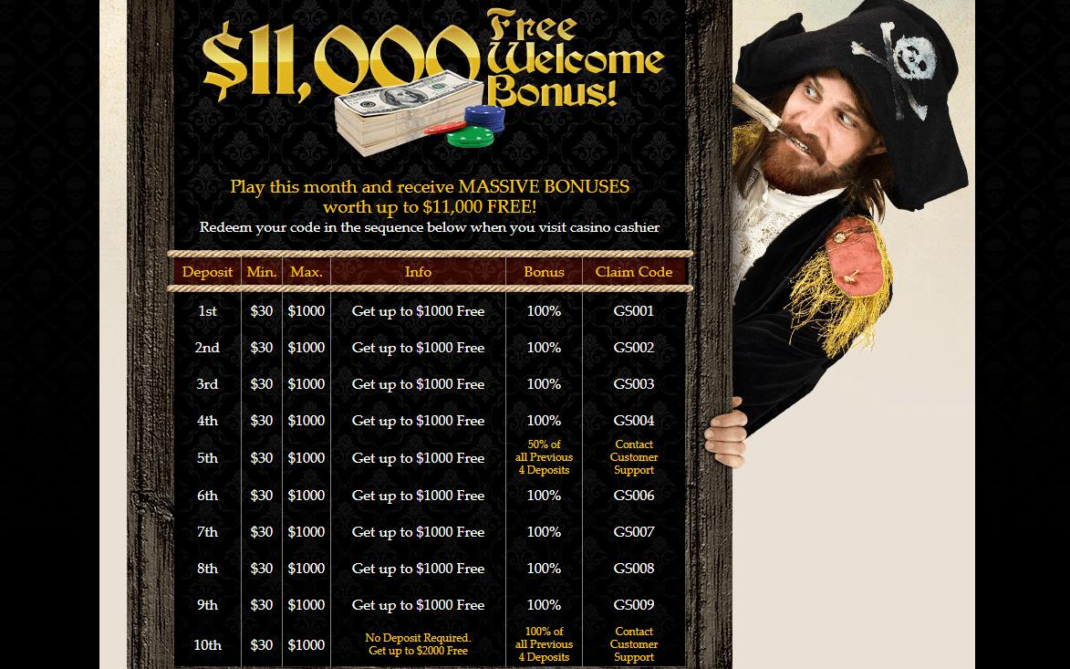 captain jack casino promotions