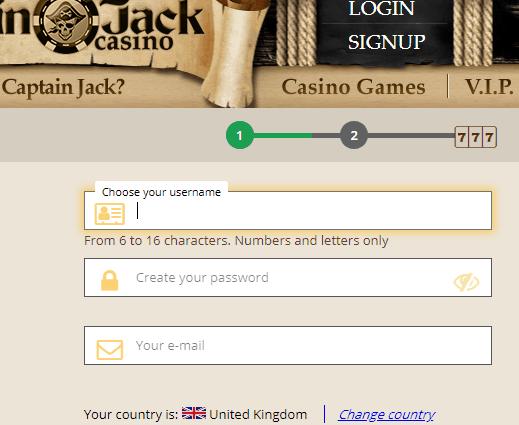 captainjack casino sign up