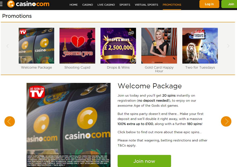casino.com promotions