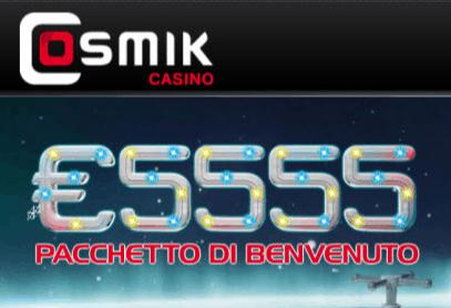 cosmik casino front image
