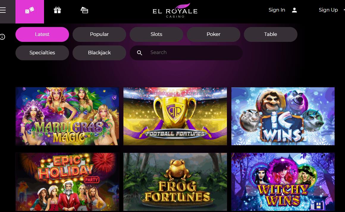 el royale casino games
