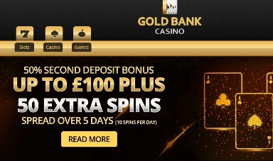 gold bank casino front image