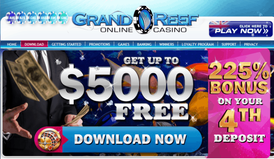 grand reef casino home