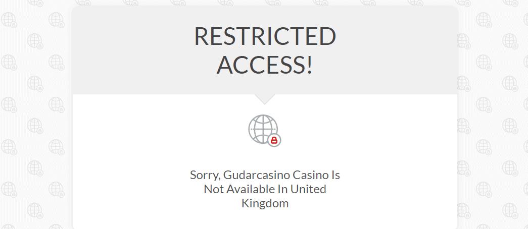 gudar casino restriction NA