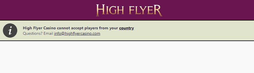 high flyer casino restrictions