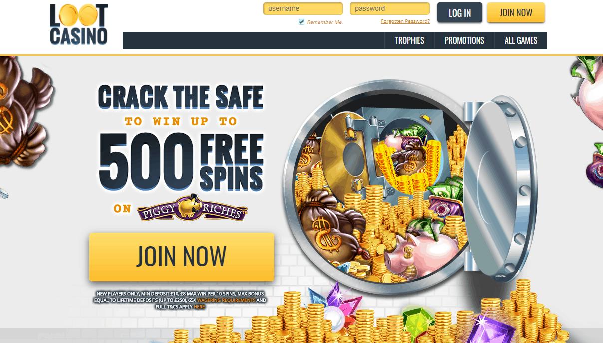 loot casino home