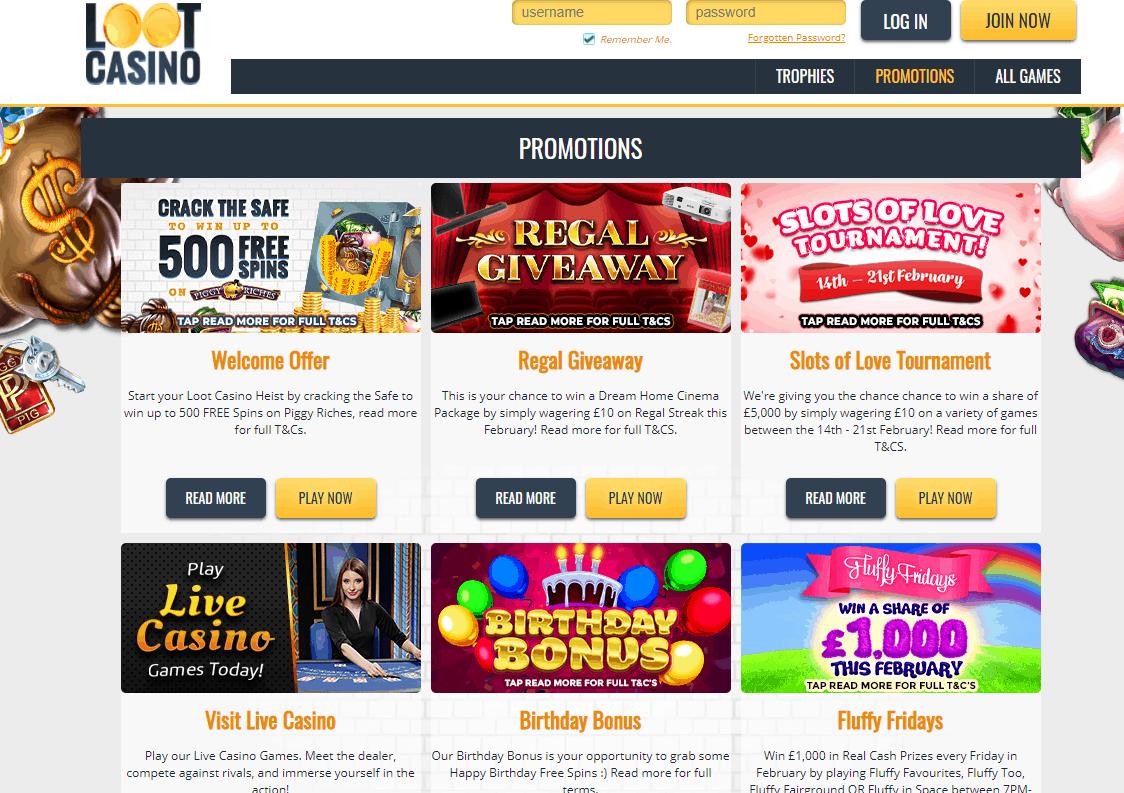 loot casino promo