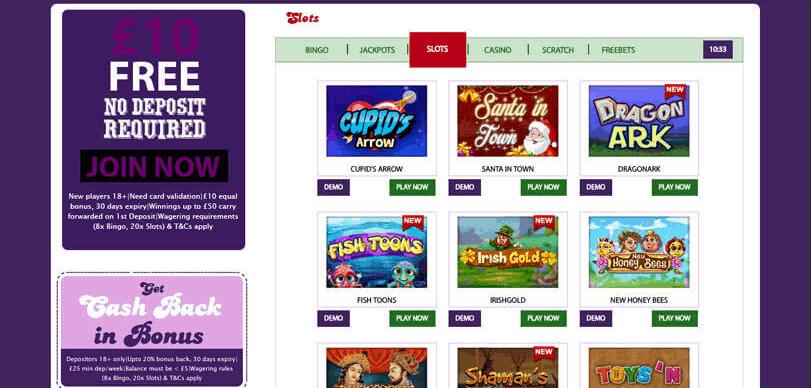 lucky diner bingo games