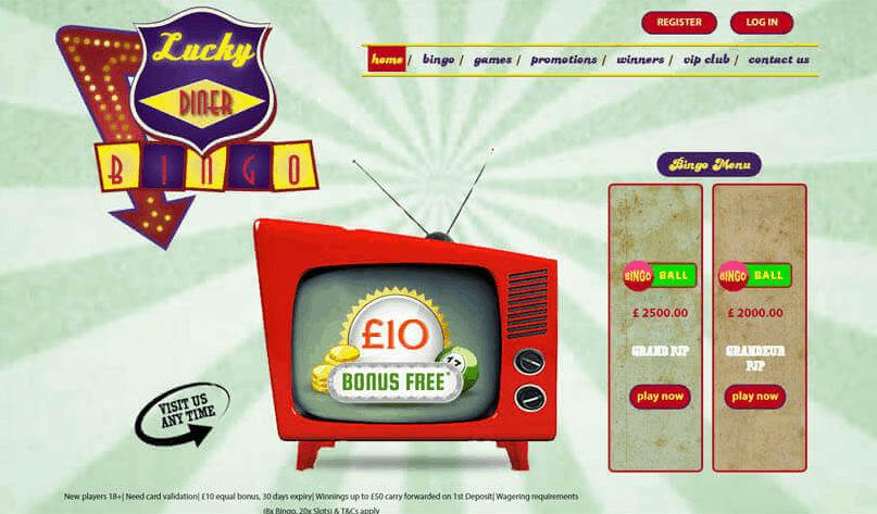 lucky diner bingo home