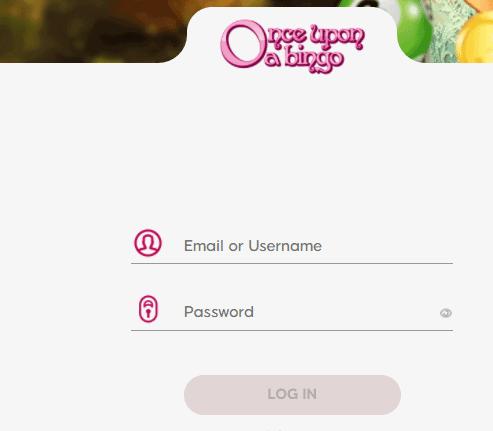 once upon a bingo login