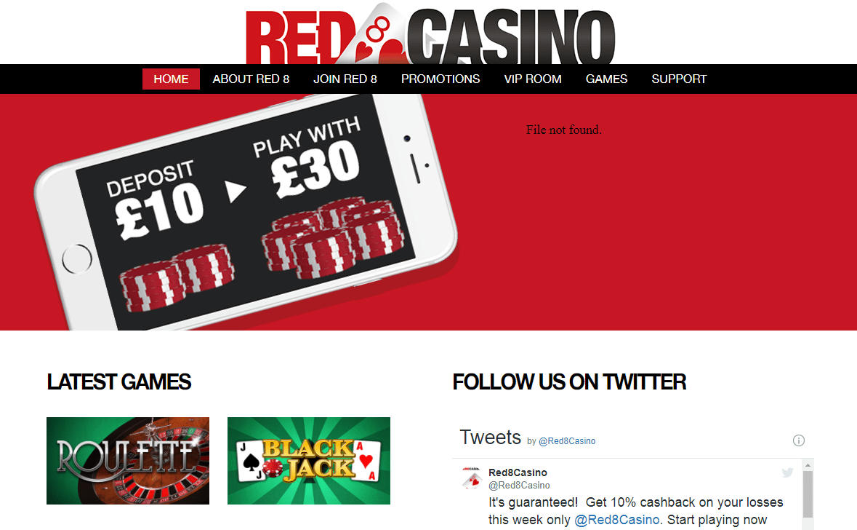 red 8 casino home
