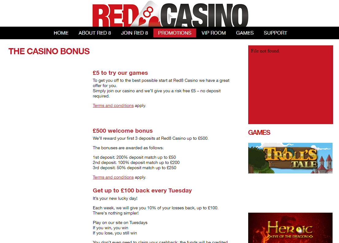 red 8 casino promotions