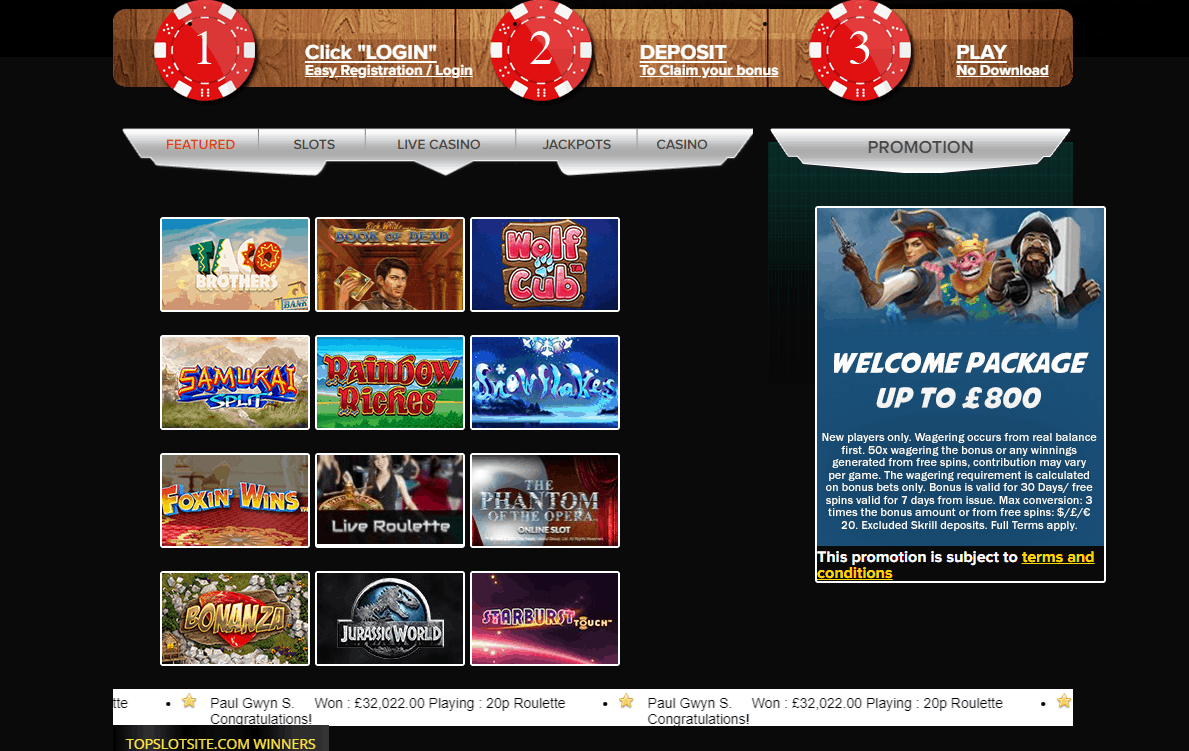 top slots site games