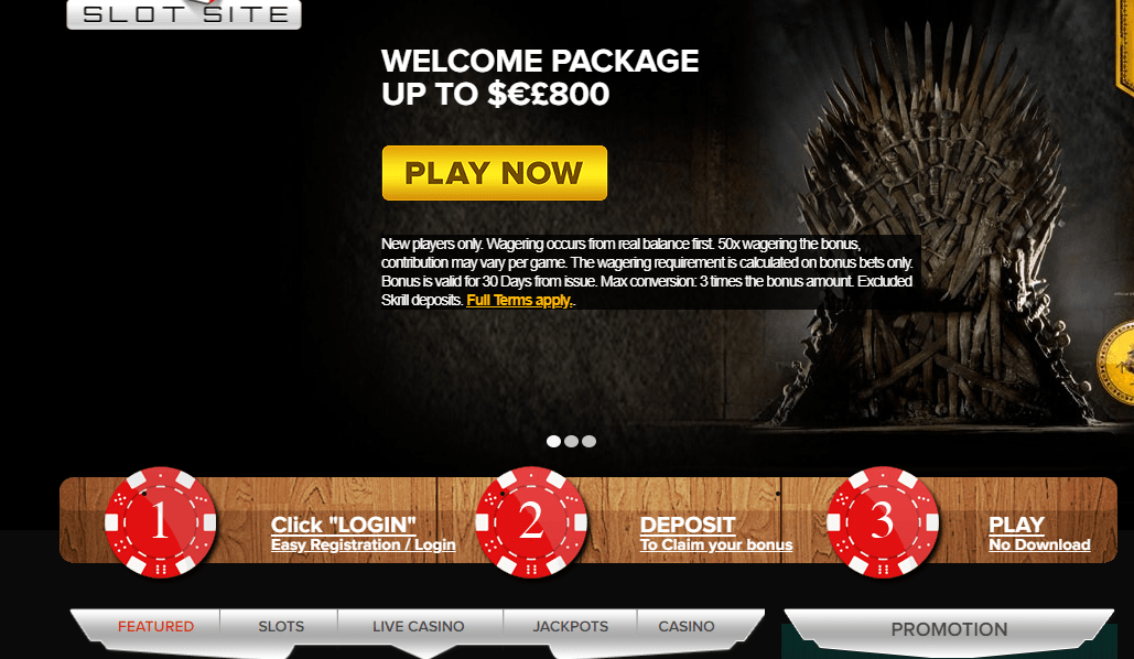 top slots site promotions