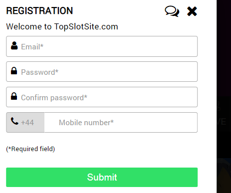 top slots sites sign up