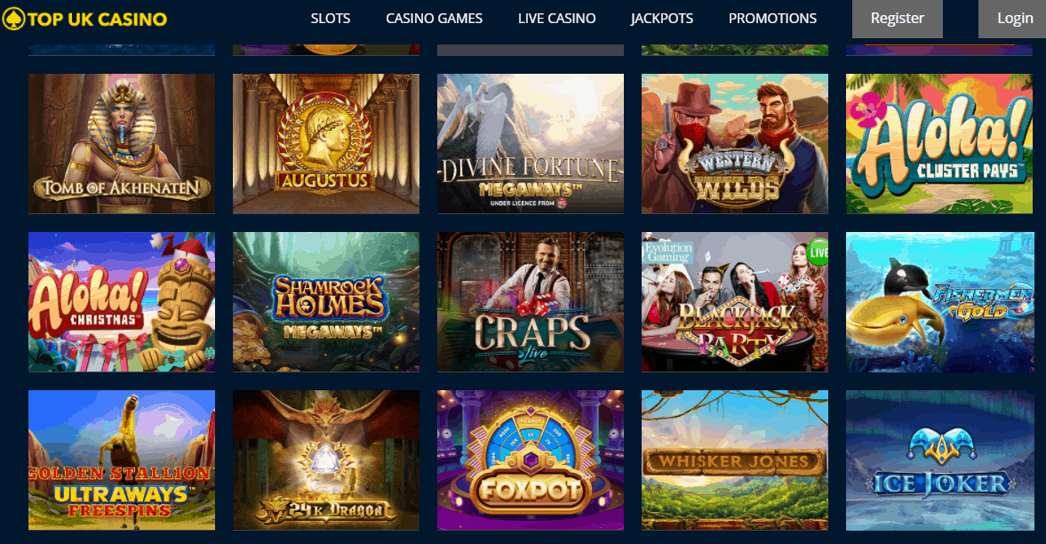 top uk casino games