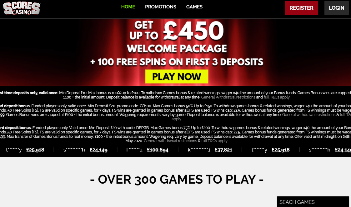uk score casino home