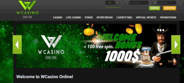 w casino online home page