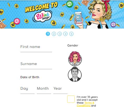 wink bingo sign up