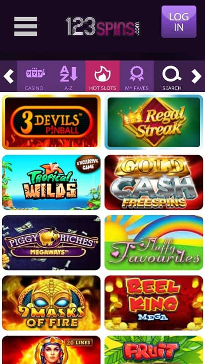 123-Spins Games Page