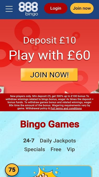 888 Bingo GamesHome Page