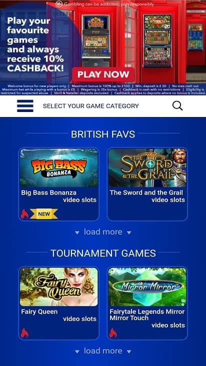 All Birtish Casino Games Page
