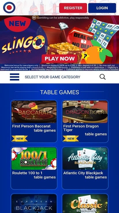 All Birtish Casino Home Page