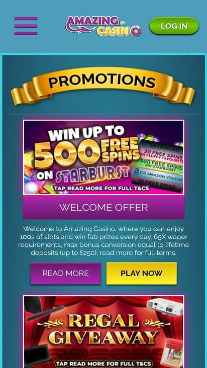Amazing casino promotions page
