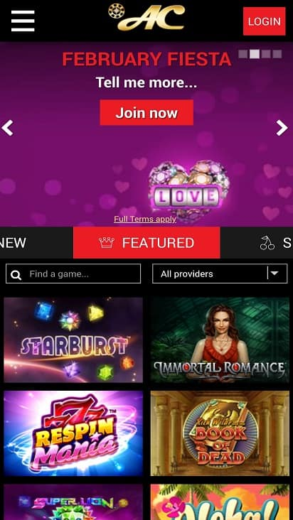 Azimut casino Home Page