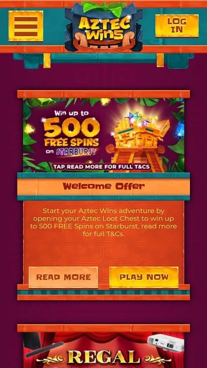 Aztec wins promotions page
