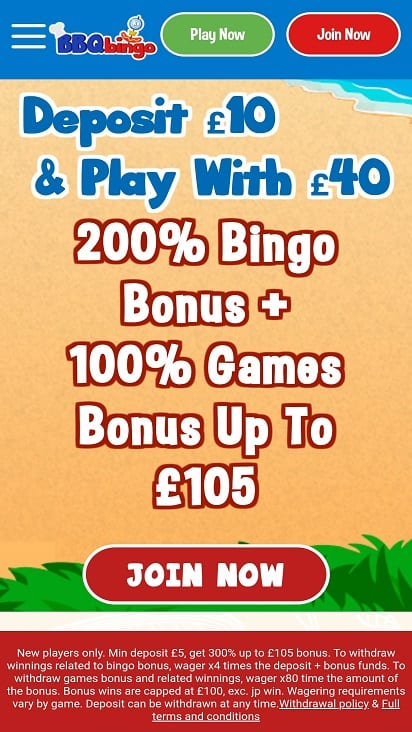 BBQ bingo Home page