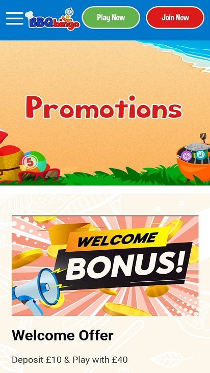 BBq bingo Promotions page