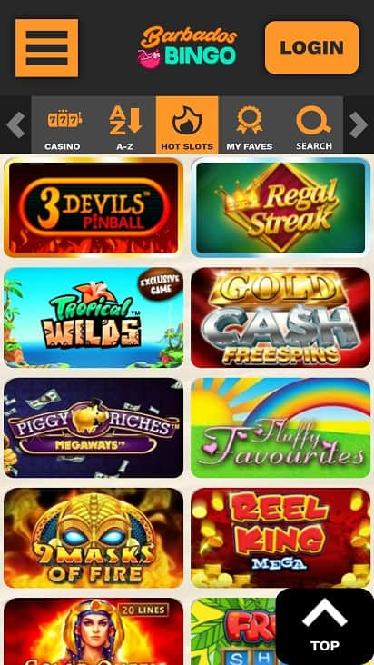 Barbados bingo games page