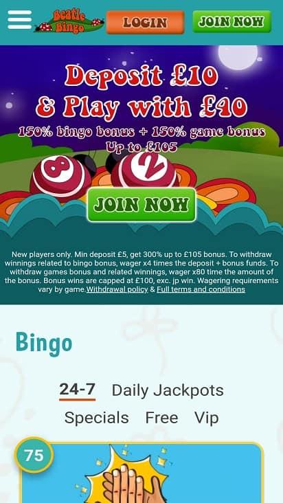 Beatle bingo home page