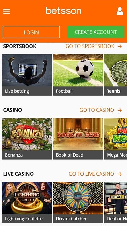 Bet sson games page