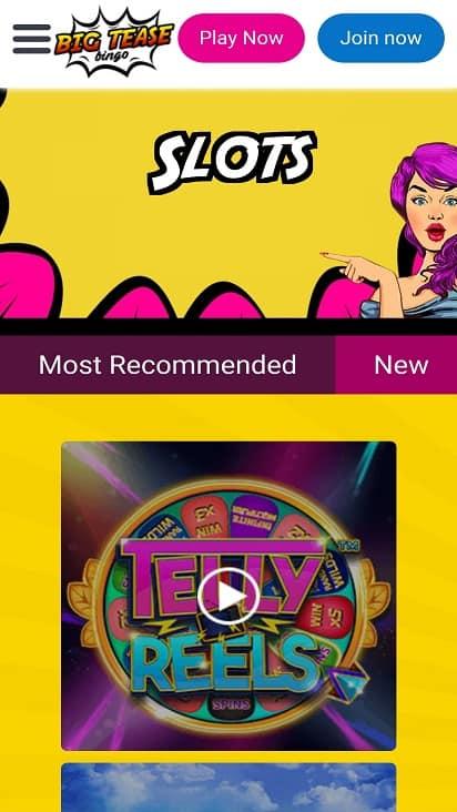 Big tease bingo games page
