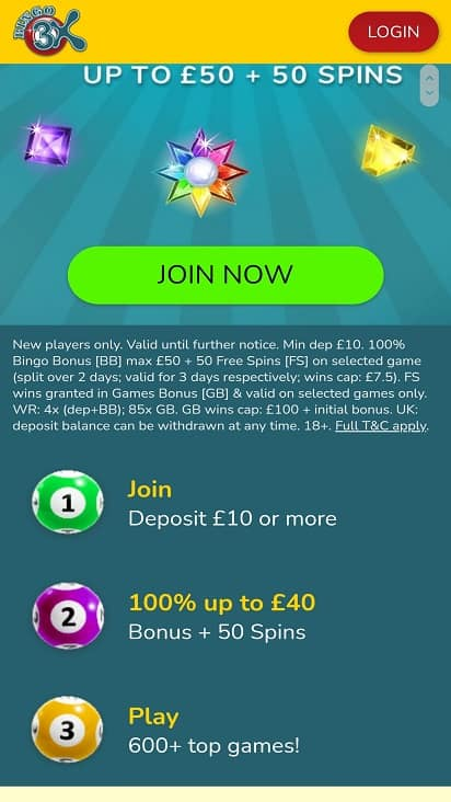 Bingo 3x promotions page