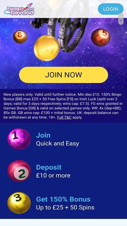Bingo and Beyond promotions page
