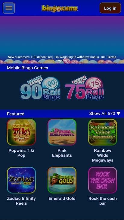 Bingo cams home page