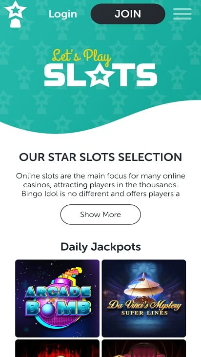 Bingo idol games page
