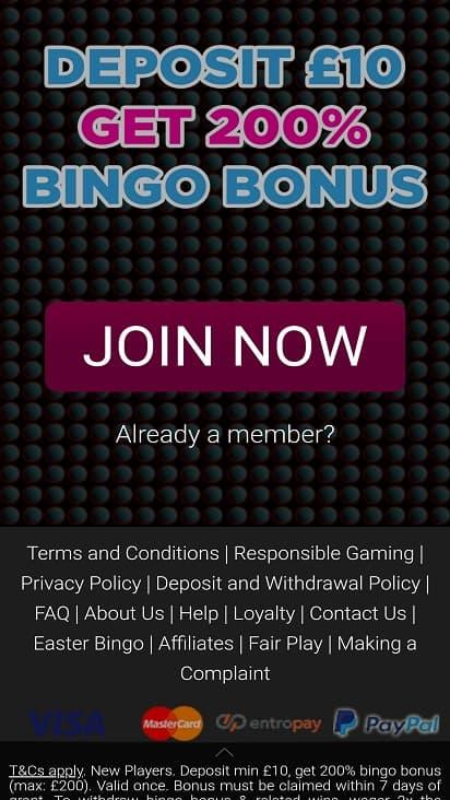 Bingoloft promotions page