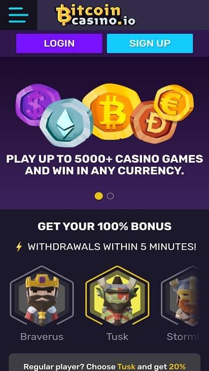 Bitcoin casino Home page