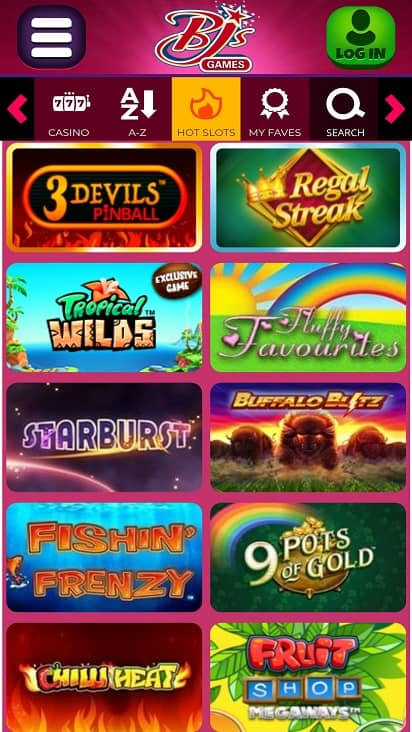 Bjs Games page