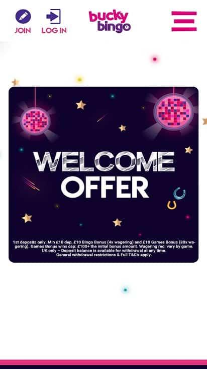 Bucky bingo promotions page