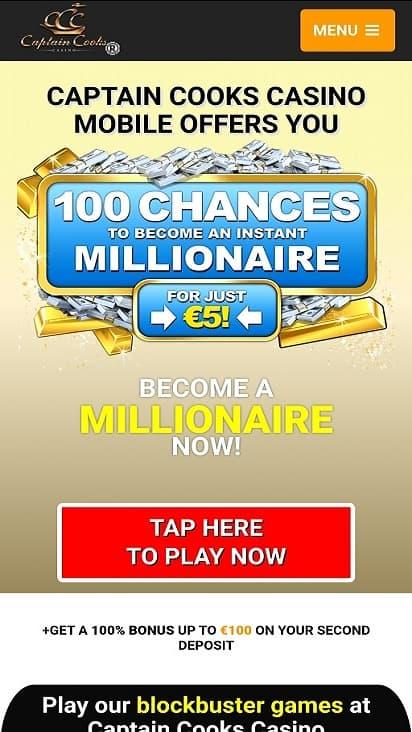 Captaion cooks casino home page