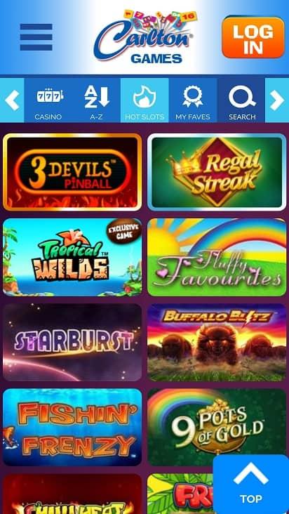 Carlton games page