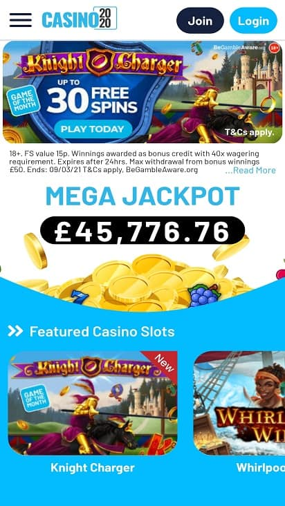 Casino 2020 Home page
