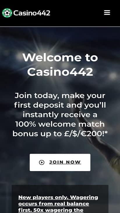 Casino 442 Home page
